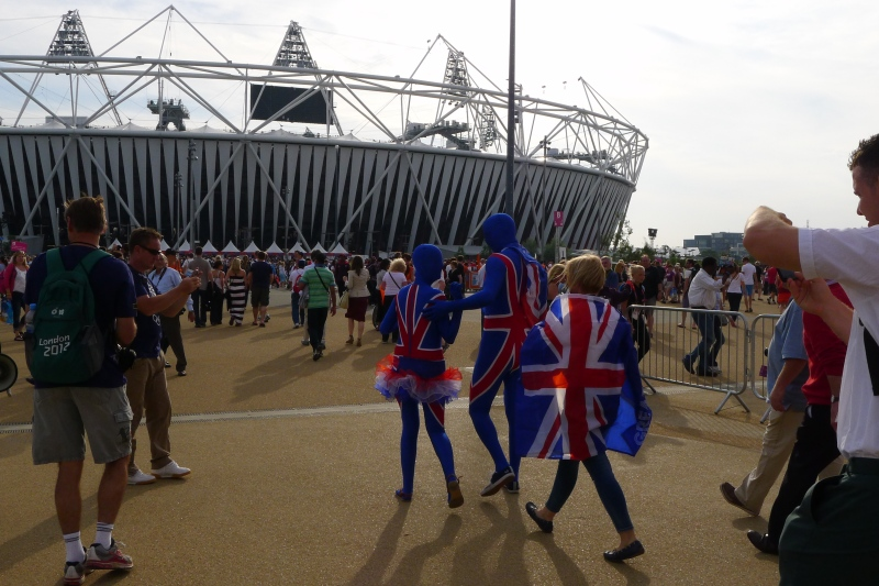 British pride, heading into the Olympic Park