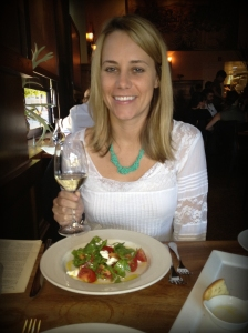 My melt-in-your-mouth salad and Oregon Riesling at Nostrana