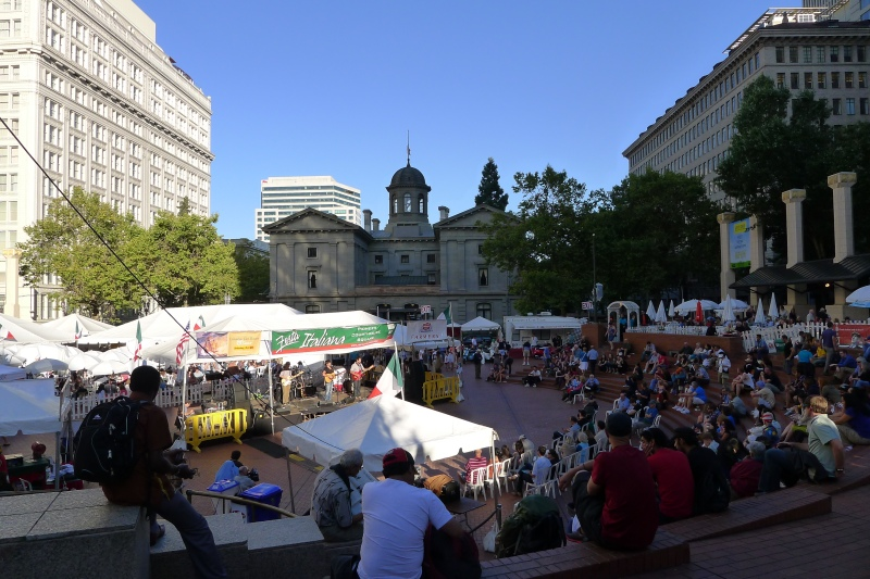 Festa Italiana Portland in Pioneer Courthouse Square