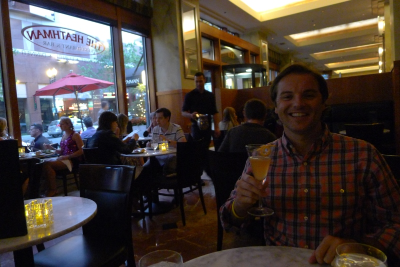 Quick drink at the historic Heathman Hotel