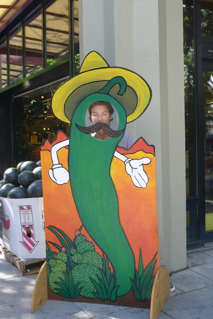 My Mr. Pepper outside Whole Foods, on our way to Feast Portland's Oregon Bounty Grand Tasting