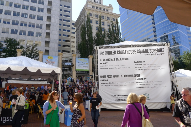 The Feast Portland scene and demo schedule