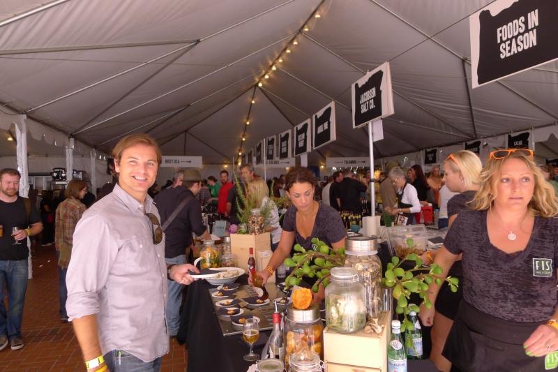 Jeff taste-testing in the big Feast Portland tent