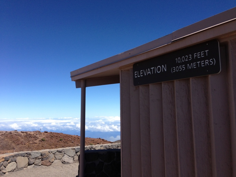 On top of the world at the Haleakalā summit