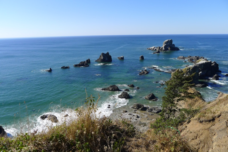 Looking out from the Ecola State Park viewpoints