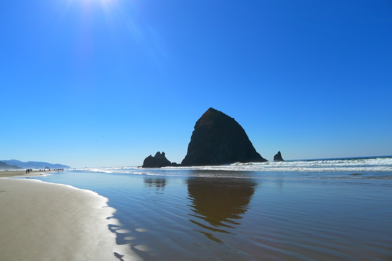 Gorgeous. Best weather I've seen at Cannon Beach