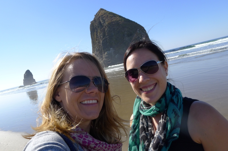 A.maz.ing. weather at Cannon Beach, near Haystack Rock