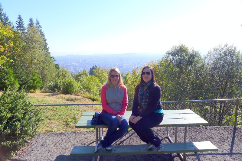 Overlooking the city from Pittock Mansion's yard