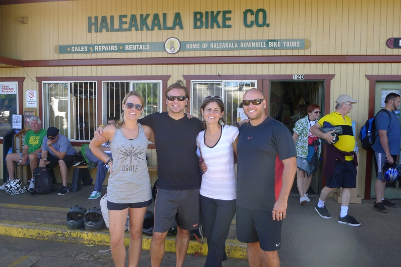 Ready for our 9 a.m. tour and bike ride of Haleakalā