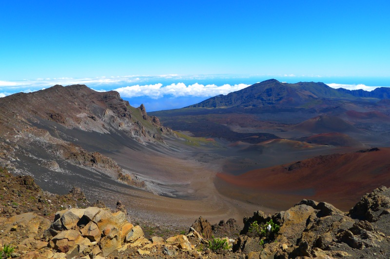 The crater at Haleakalā National Park (seen from the visitors' center)