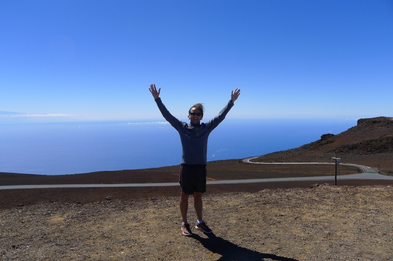 Jeff taking in the amazing Haleakalā National Park