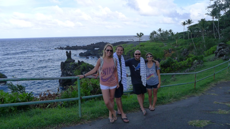 Overlooking the ocean at Wai'anapanapa State Park