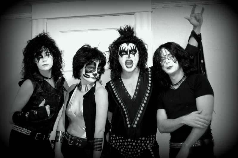 Dressed as KISS and ready to rock!