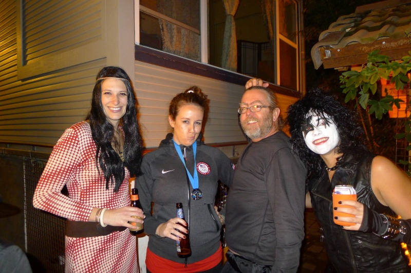 Kristen (Cher), Katie (unimpressed McKayla Maroney), Travis and me