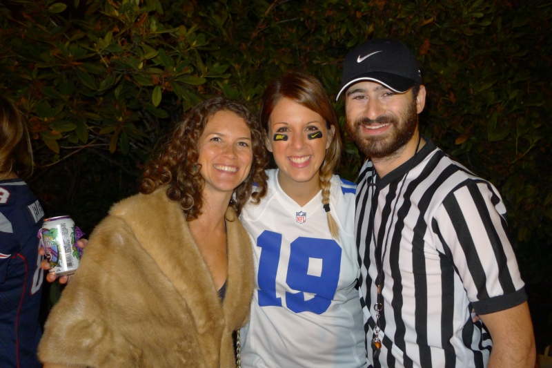 Jessica the social climber, Keeley (aka Miles Austin) and Rick the ref