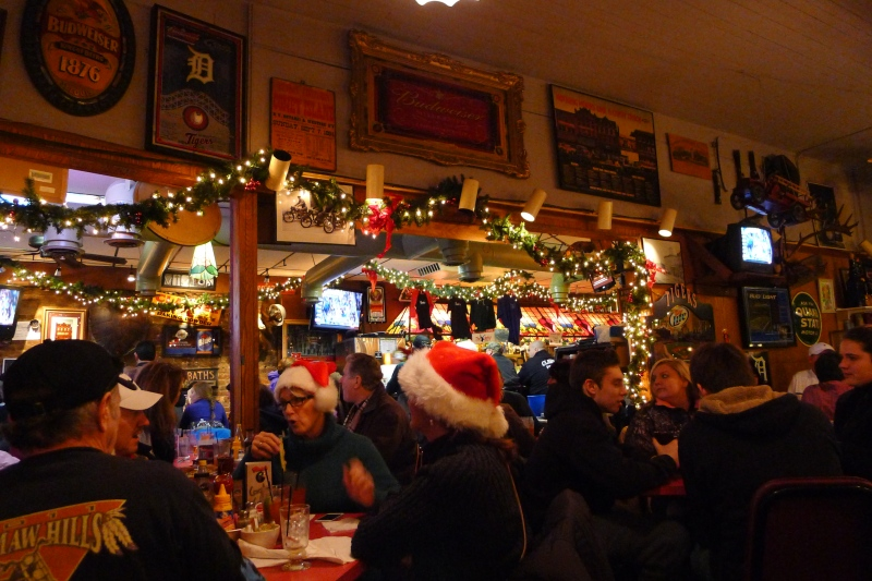 Festive atmosphere at Vivio's in Eastern Market, 8 a.m. the Saturday before Christmas