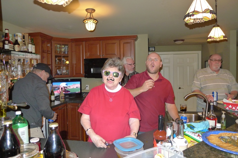 Aunt Elaine showing off her new sunglasses