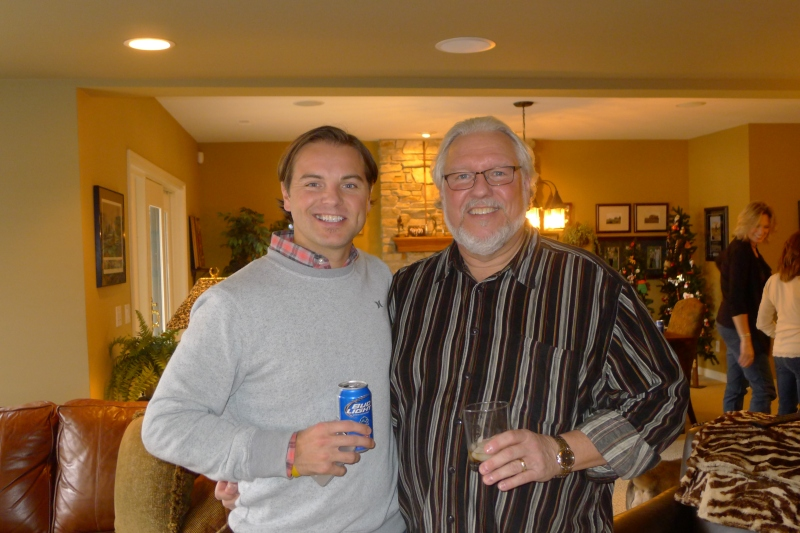 Jeff and Uncle Ron at the Krass family Christmas