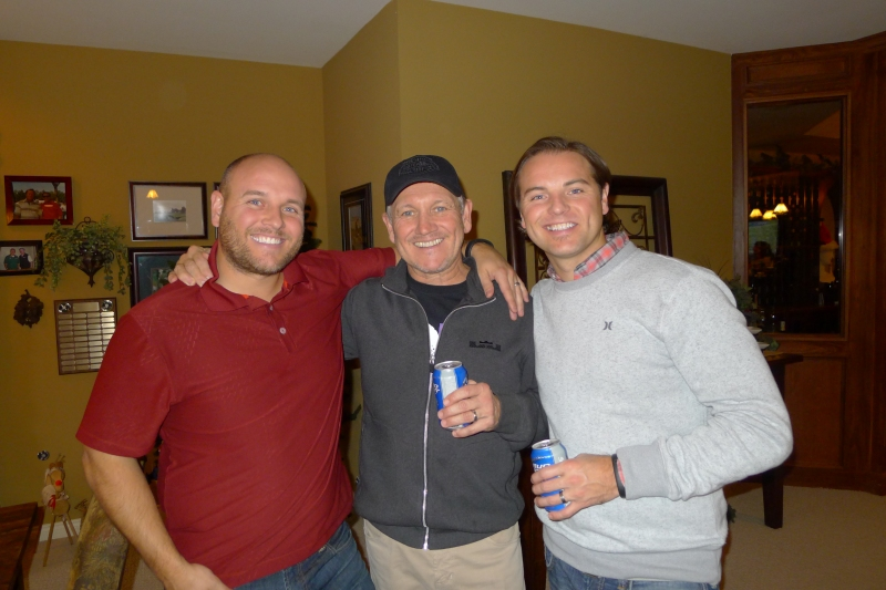 Two bros and their pop: Rob, Bob and Jeff