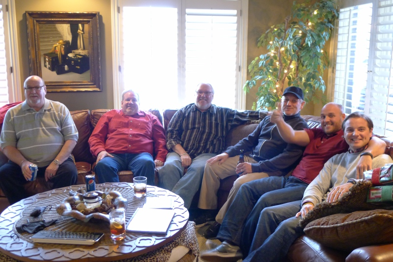 The Krass men: Uncle Paul, Uncle Roger, Uncle Ron, Bob, Rob and Jeff