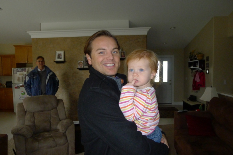 Jeff and our goddaughter Macy