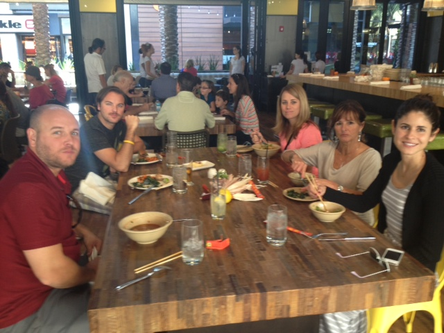 Lunch at the True Food Kitchen in Scottsdale