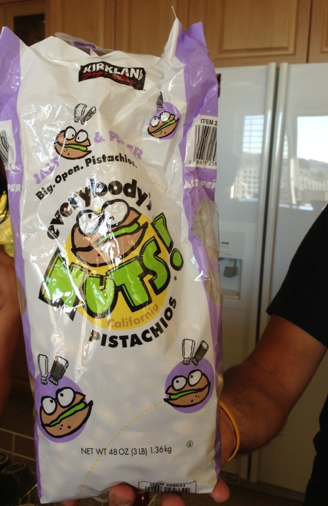 We probably ate 10 pounds of these delicious pistachios over the holiday weekend - available at Costco