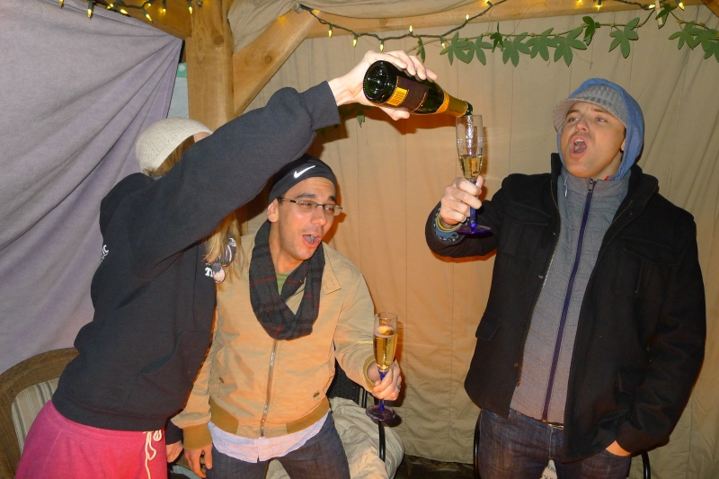 Midnight celebrations with Veuve Clicquot!