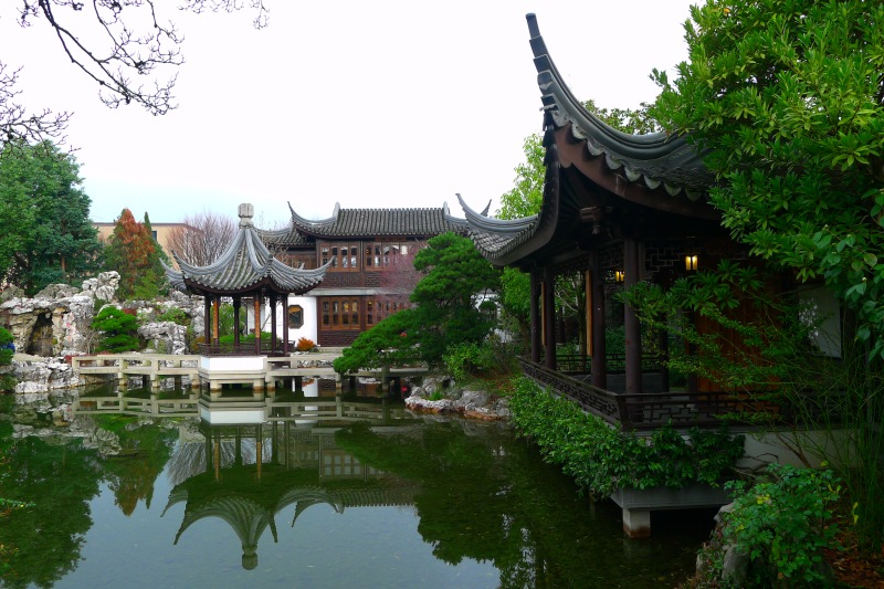 The serene Lan Su Chinese Garden