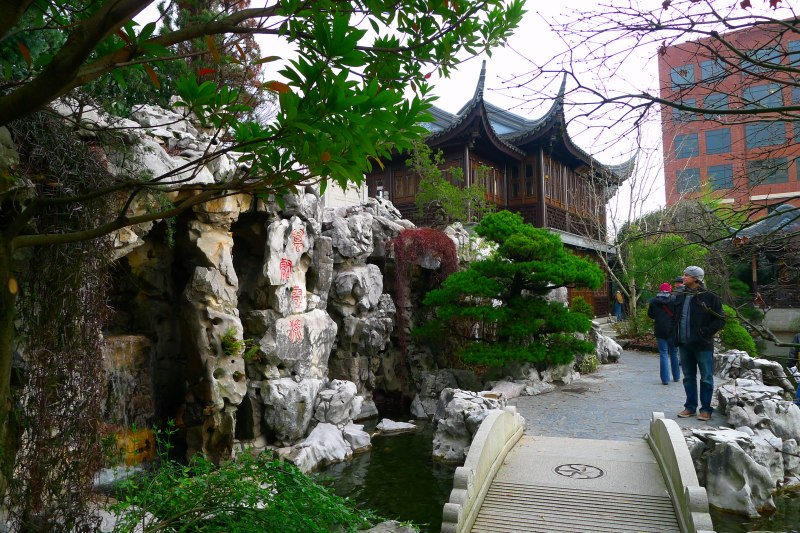 Taihu stones formed of limestone brought up from the bed of Lake Tai, 30 kilometers west of Suzhou, China