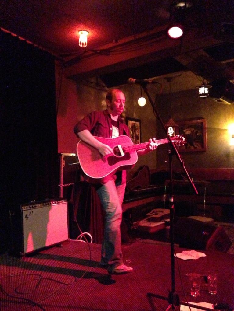 Truckstop Darlin's Nick Foltz doing a solo set at Al's Den