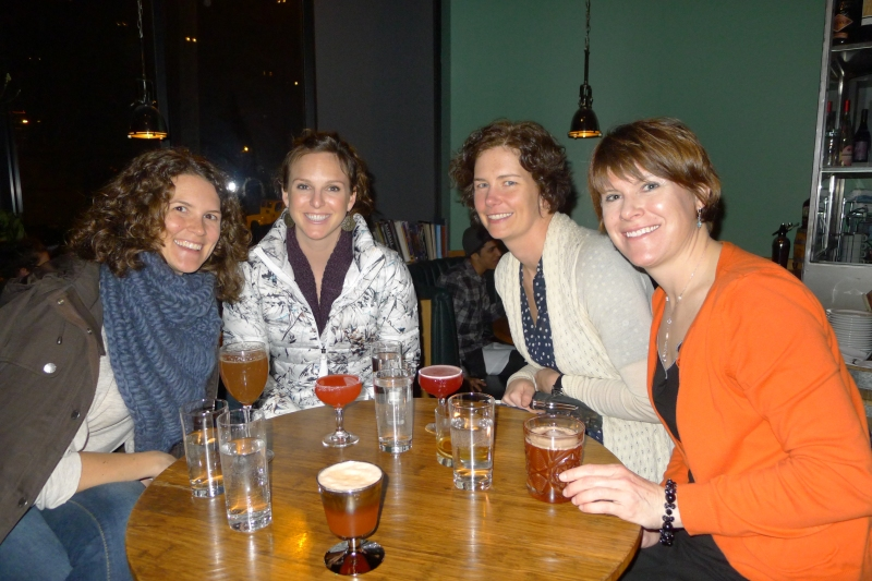 Drinks with the girls (Jessica, Kristen, Erin and Stacey) at Beaker & Flask
