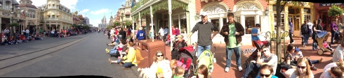 Gathering on Main Street for the afternoon parade