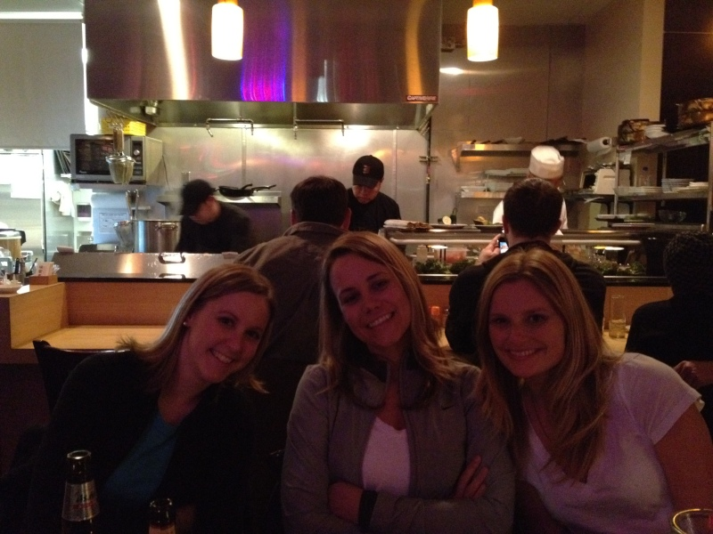 ...and the other side of the table: Julie, me and Lindsay