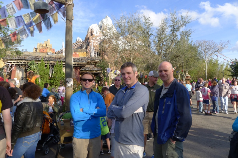 The guys hanging out near Expedition Everest