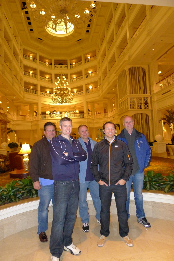 Uncle Bob, Cory, Chuck, Jeff and Dad in the majestic Grand Floridian Resort & Spa