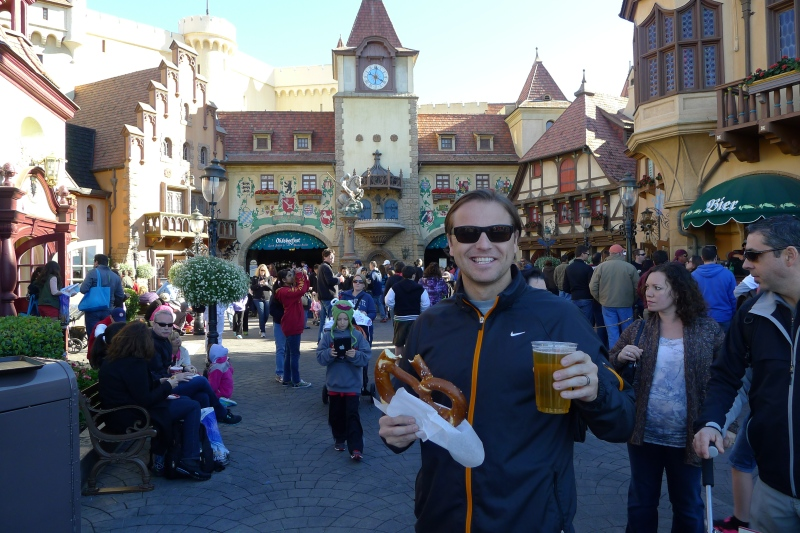 Jeff loving Germany in Epcot...