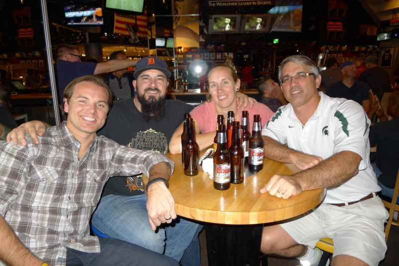 Drinks at ESPN Zone with Jeff's cousins