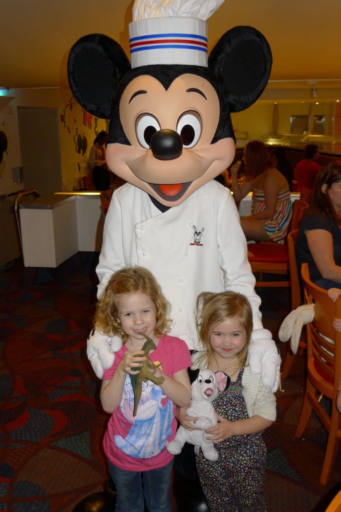 Capping our visit with a dinner with the mouse