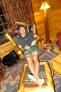 Jeff hogging the comfy chair