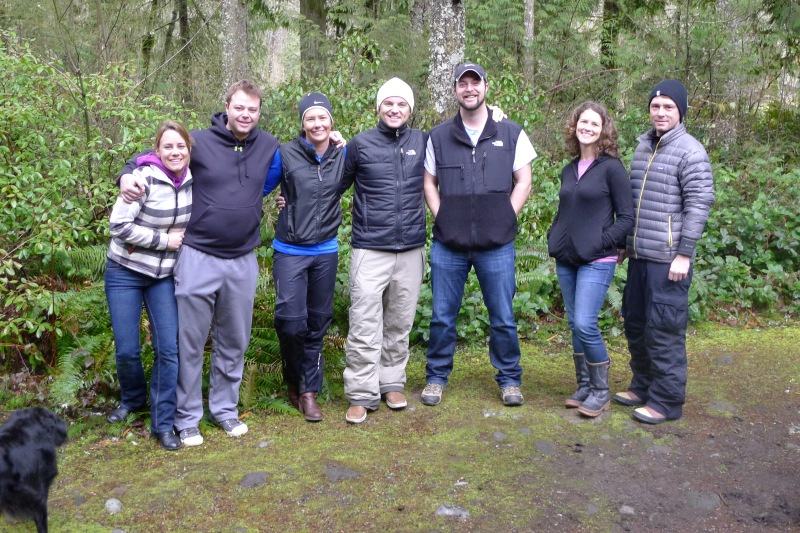 Cooper running out of the shot, me, Todd, Erin, Jeff, Stephen, Jessica and Sean - group photo before we closed the weekend