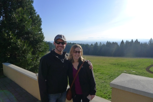 Overlooking Oregon wine country