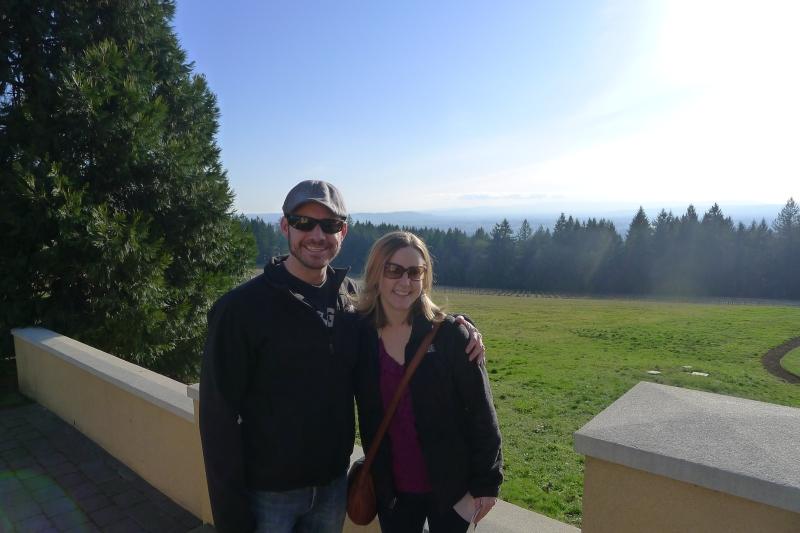 Overlooking Oregon wine country