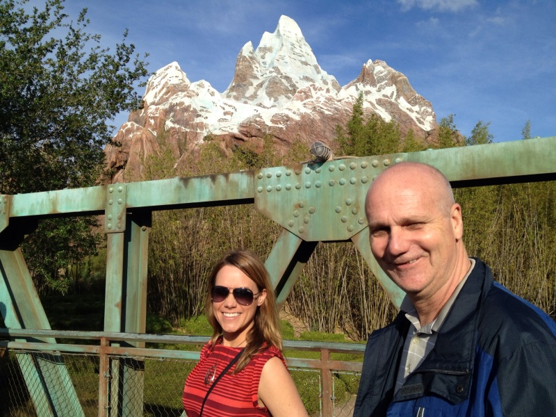 Me and my pops near Expedition Everest