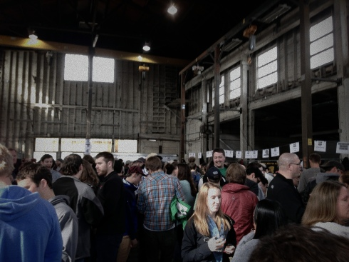 Beer fest in the Metalcraft Fabrication building