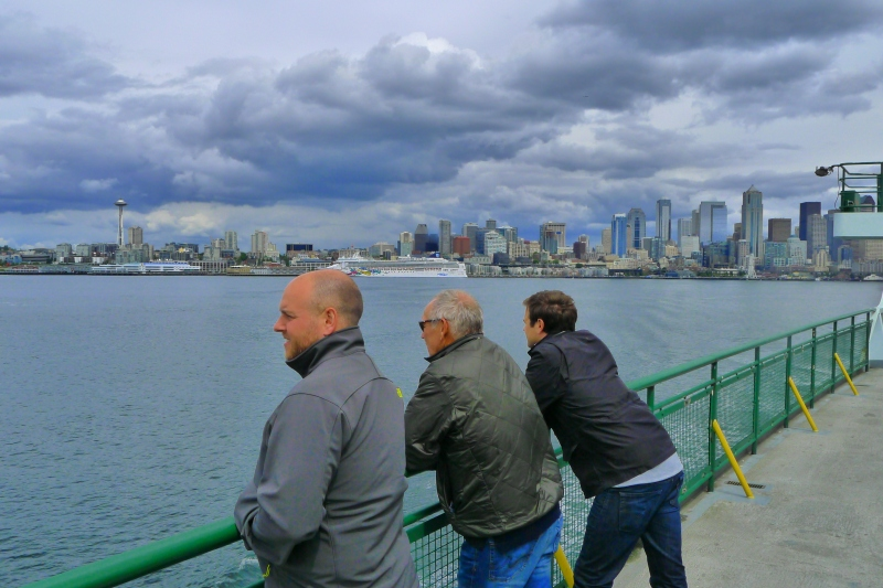 The Krass guys taking in the Seattle sights from the ferry