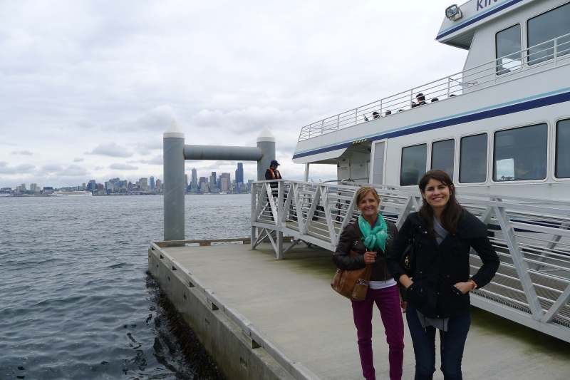Ready to hop the water taxi from Alki Beach back to Seattle after brunch