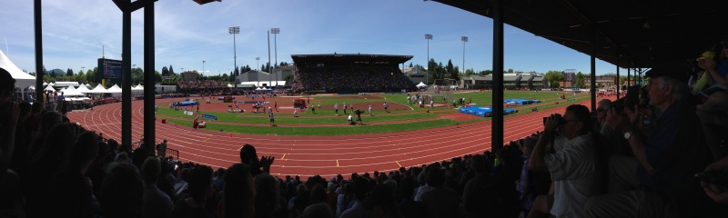 The iconic Hayward Field at University of Oregon
