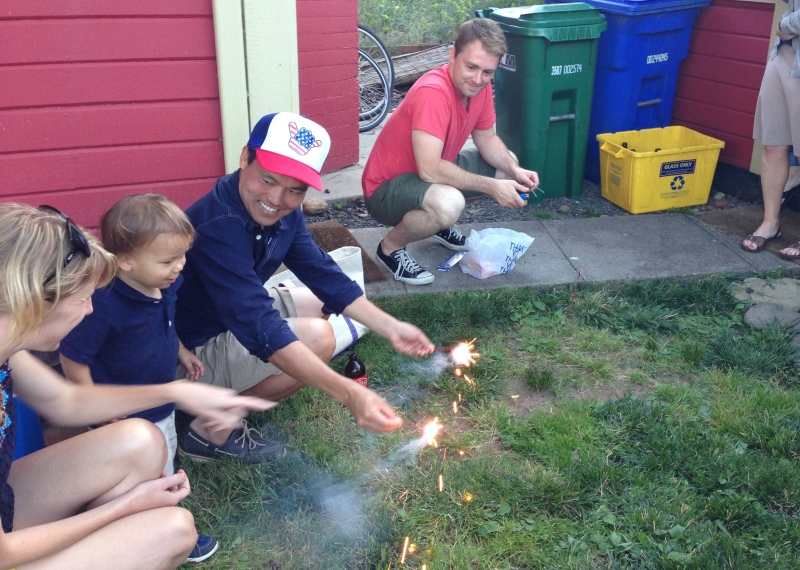 Sparklers for the kiddo