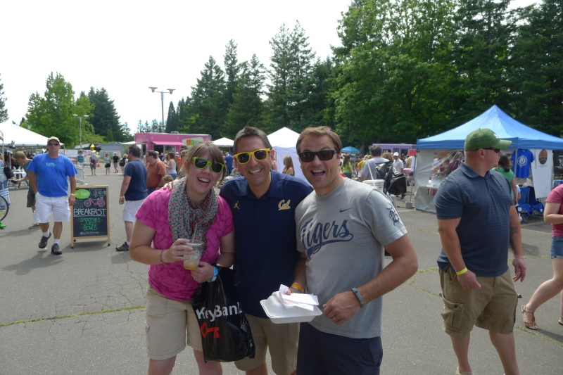 Felicia, Genaro and Jeff at the food cart fest in Gresham
